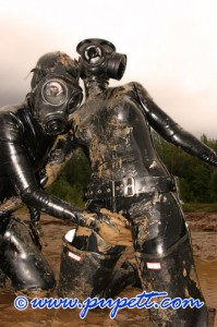 fetish, rubber, mud
